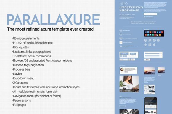Parallaxure - Axure Template Library by Axure Themes on ...
