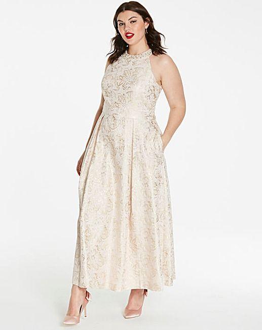 Joanna Hope Jacquard Ballerina Dress | Plus Size Curvy Fashion ...