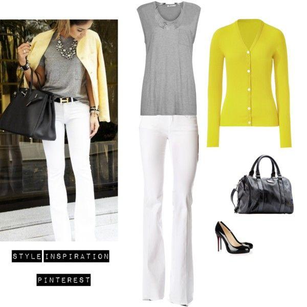 Yellow, White & Grey