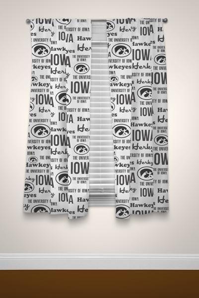 """Iowa Hawkeyes NCAA 82""""x 63"""" Window Panels"""
