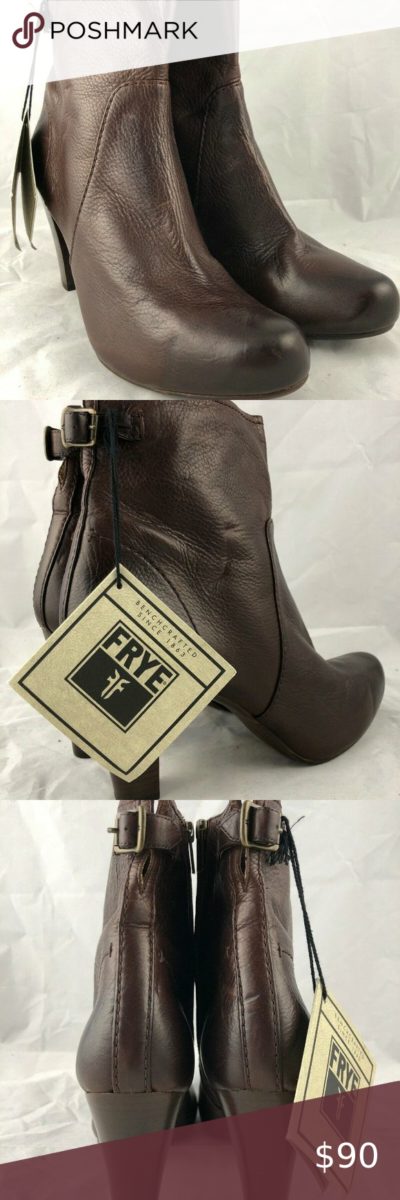 Photo of Fyre Brown Leather Short Ankle Boot – Womens Size Boots have only been worn indo…