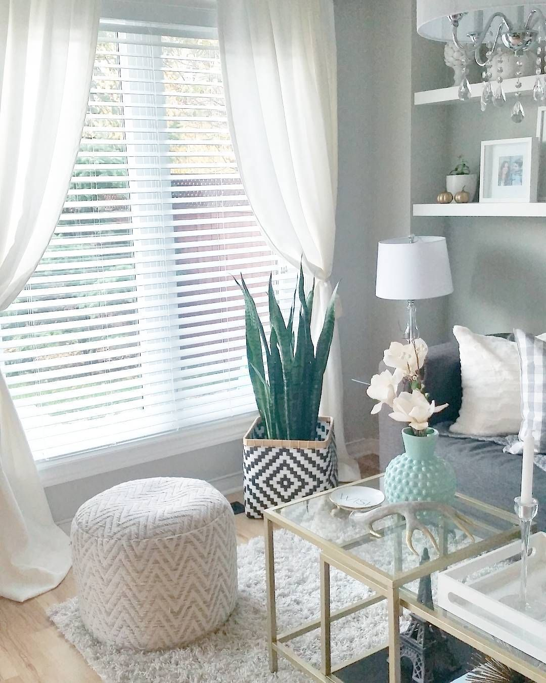 Our Living Room Over The Years: Pin About Curtains With Blinds And Living Room Blinds On