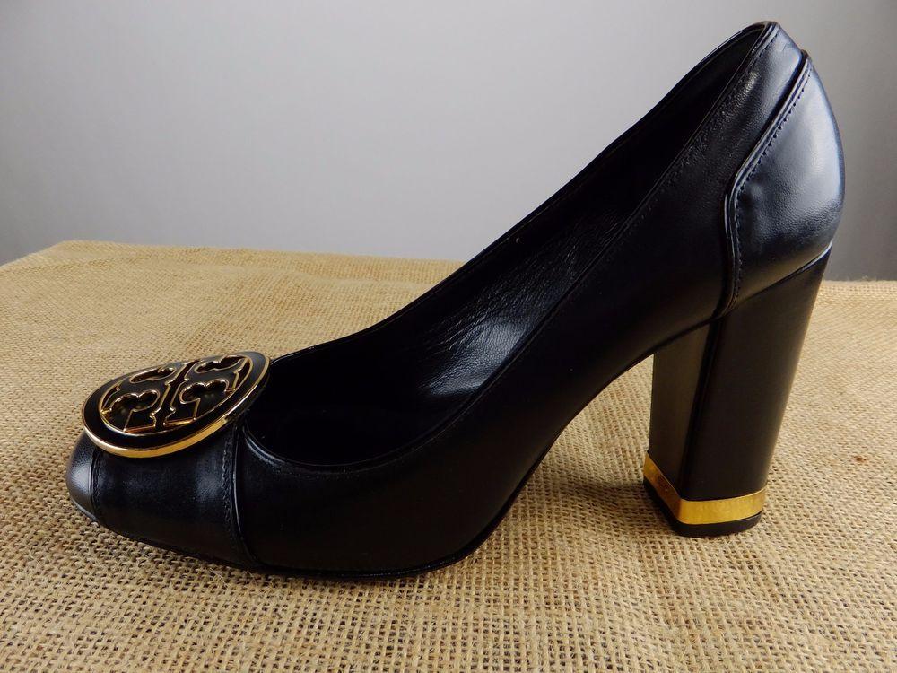 dc931d705e7212 TORY BURCH Reva Maddie Black Leather Pump High Heel Shoe 7.5 M  ToryBurch   Classics  Formal