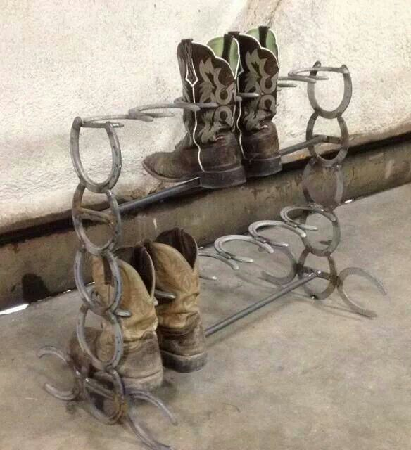 Boot rack for me pinterest horse shoes horse and for Craft welding ideas