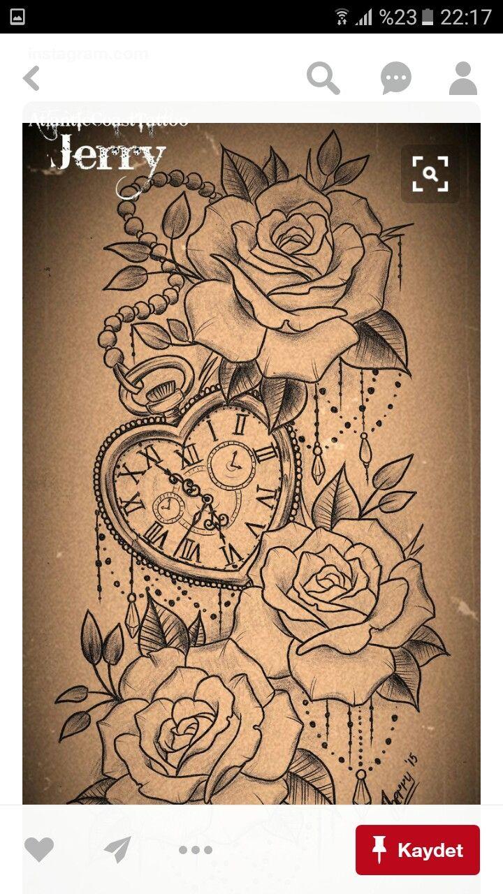 Tattoo taschenuhr oberschenkel  Pin von oktay genç auf kudoo6 | Pinterest | Tattoo frauen, Tattoo ...