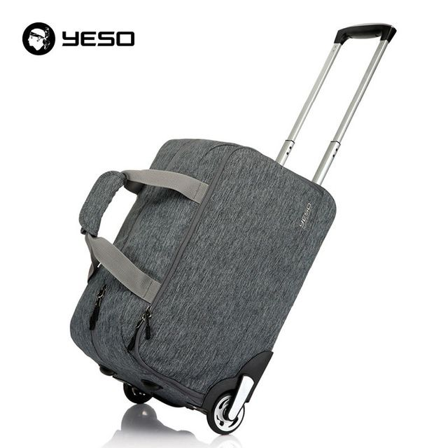 Trolley Travel Bag Hand Luggage 20 inch 32L Rolling Duffle Bags Waterproof Oxford Suitcase Wheels Carry On Luggage Unisex YESO