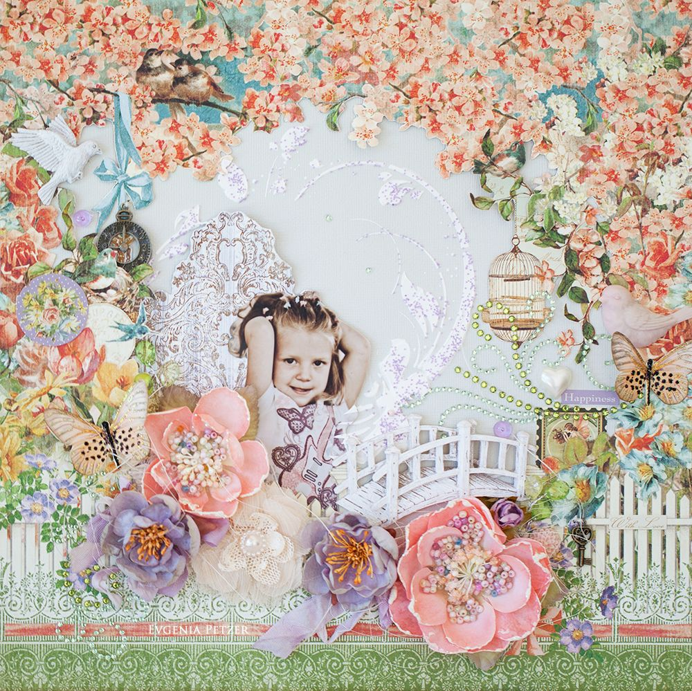 In a garden *Scraps of Elegance* March kit - created by Evgenia Petzer