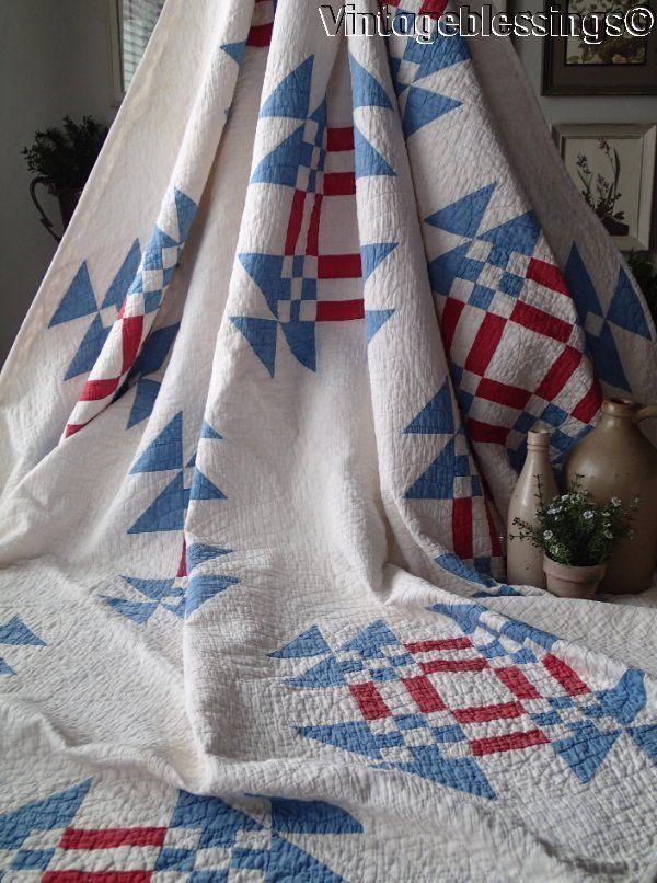 red white stamp a pepper postage quilt and blue quilts