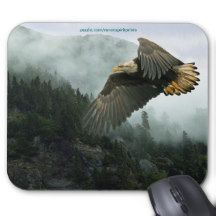 Bald Eagle & Forest Wilderness Mousepads