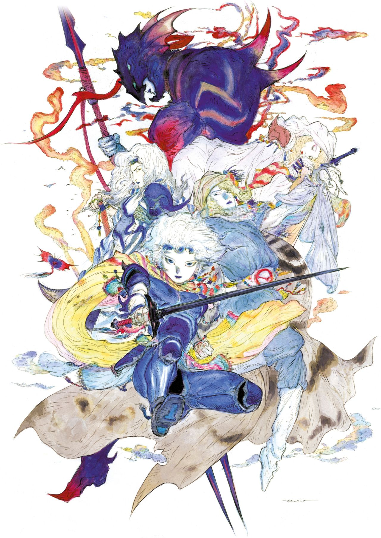 Yoshitaka Amano Final Fantasy Iv Final Fantasy Art Final Fantasy Artwork Final Fantasy Tattoo