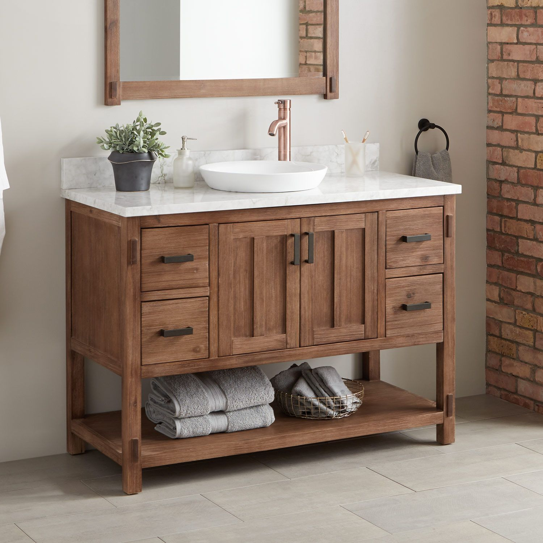 48 Morris Console Vanity Semi Recessed Sink Single Bathroom Vanity Wooden Bathroom Vanity Vanity Sink [ 1500 x 1500 Pixel ]