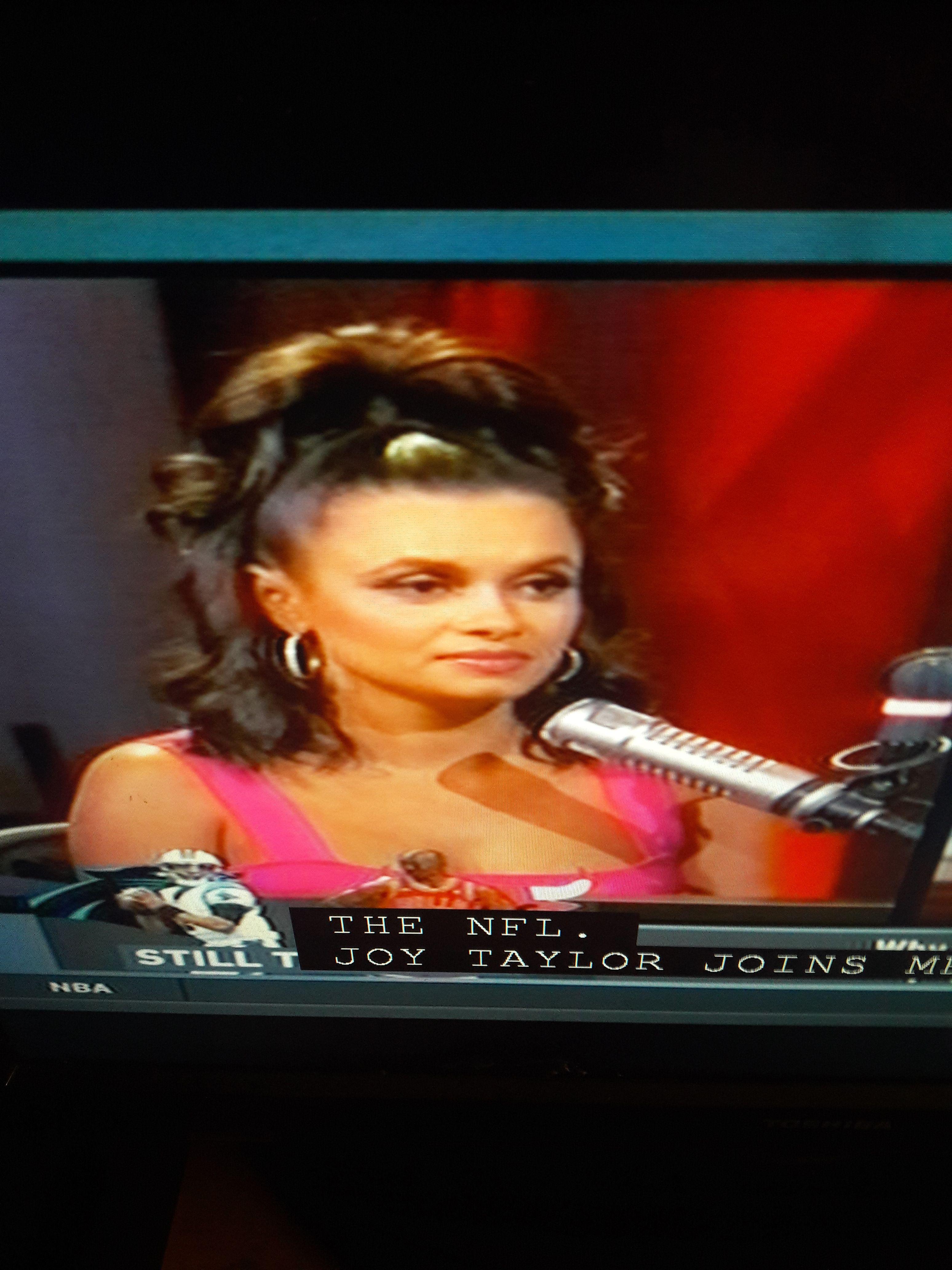 Joy Taylor In Pink Dress Joy taylor, Television host