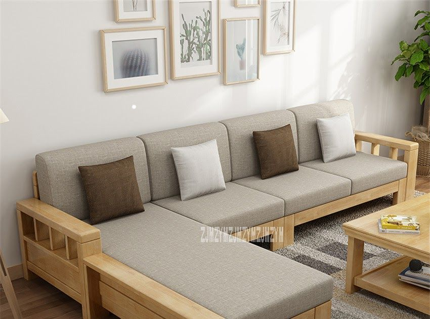 Us 551 8 11 Off Living Room L Shape Sofa Set 8809 Dual Purpose Home Solid Wood Sectional Recline In 2020 Wooden Sofa Designs Living Room Sofa Design Corner Sofa Design