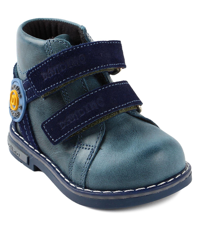 e60f21ff3 Dandino, Ботинки утепленные на липучках для мальчика (сине-голубые). Тип  ботинок