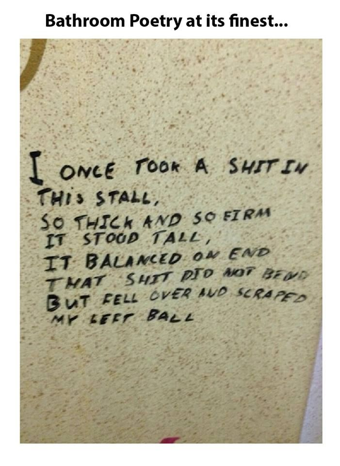 Bathroom Poetry At Its Finest Meme Collection Pinterest Funny - Bathroom poetry