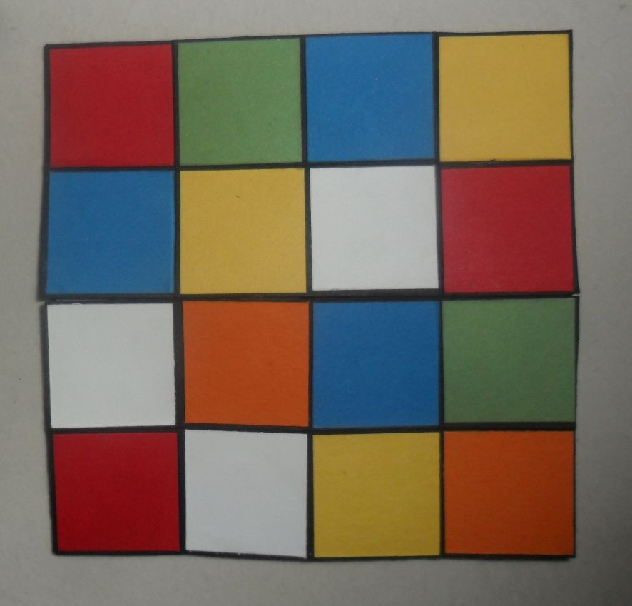 Rubiks cube never ending card  Christie's Creative Corner