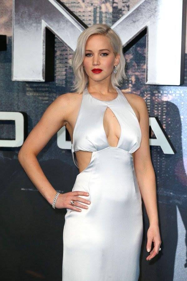 Jennifer Lawrence on the blue carpet premiere of # ...