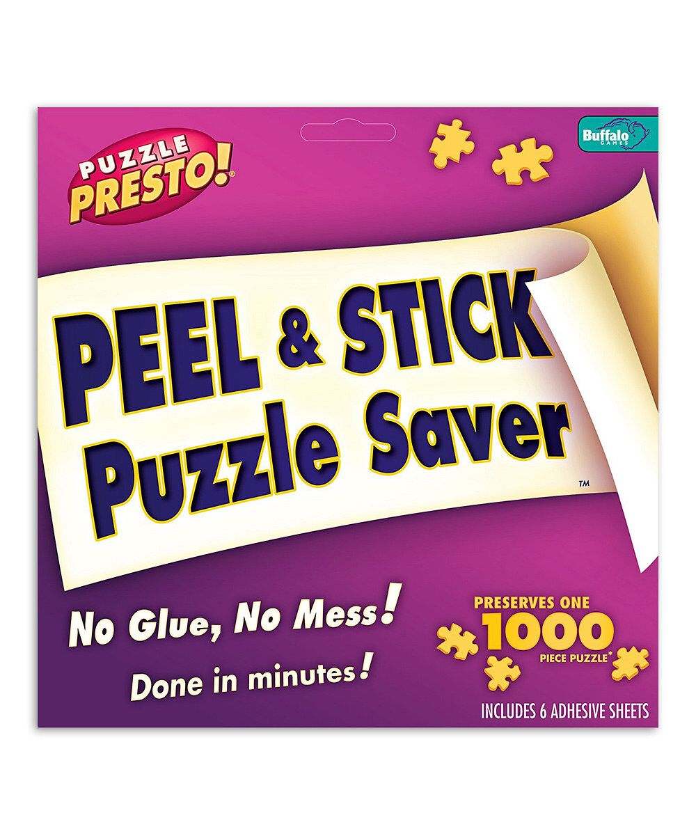 Look At This Puzzle Presto Peel Stick Puzzle Saver On Zulily Today Puzzle Frame Puzzle Storage Jigsaw Puzzles