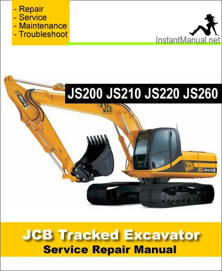 Download JCB JS200 JS210 JS220 JS260 Track Excavator Service Repair
