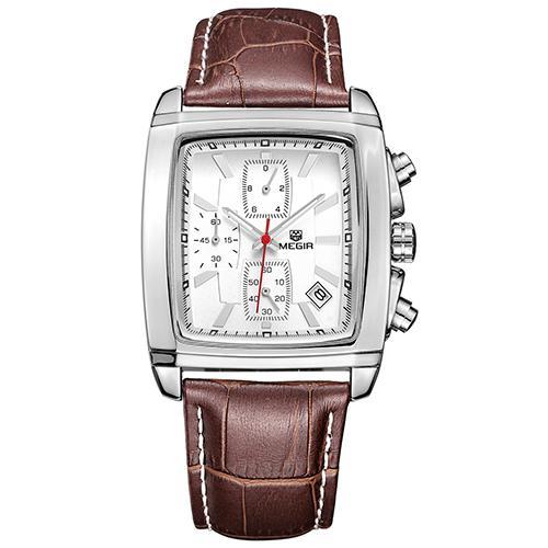 b0030f4acf7 MEGIR Original Watch Men Top Brand Luxury Quartz Military Watches Genuine  Leather Dress Wristwatch