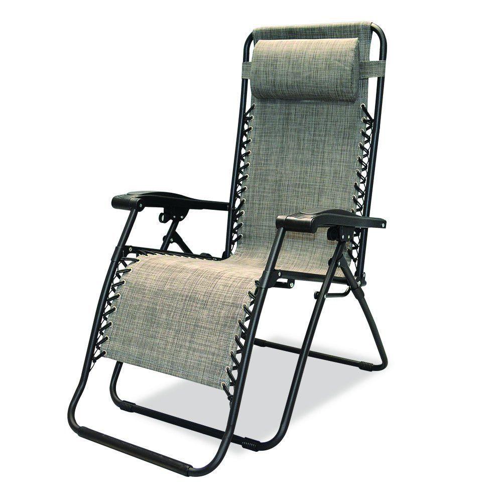 Caravan Sports Infinity Zero Gravity Chair, Grey Outdoor