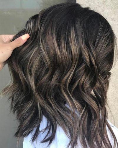 Black Hair With Ash Brown Highlights Ash Hair Color Dark Hair With Highlights Ash Blonde Highlights On Dark Hair