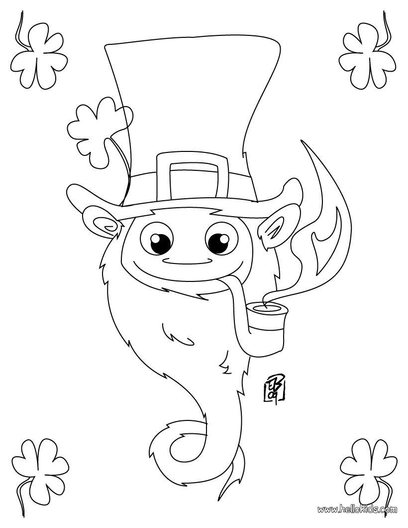 Coloring sheet leprechaun - Leprechaun Jokes For Kids Google Search
