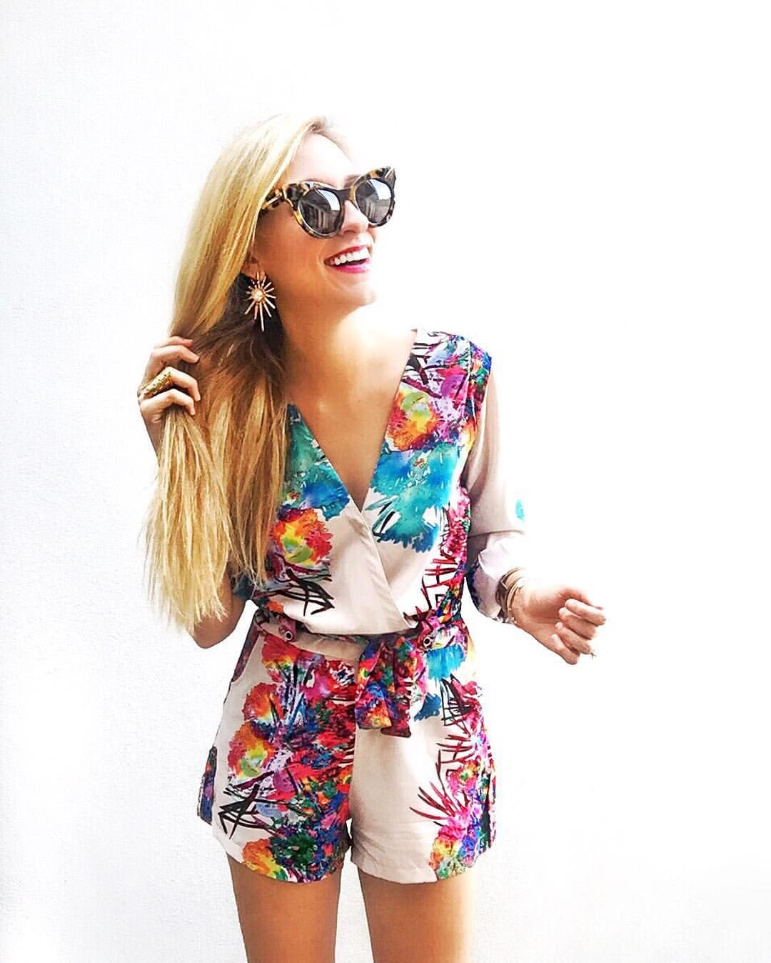 Love this romper ... And only $65 PAULA' WATER PAINT PRINTED ROMPER