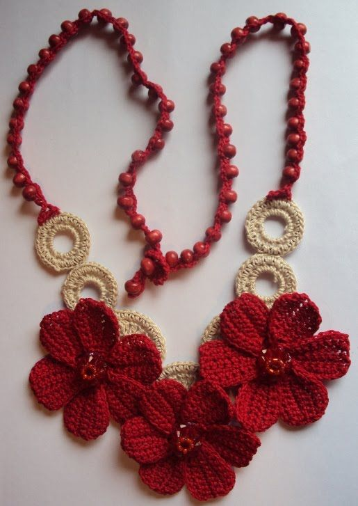 Tejiendo Maule Collares Tejidos Crochet Jewellery Collar De