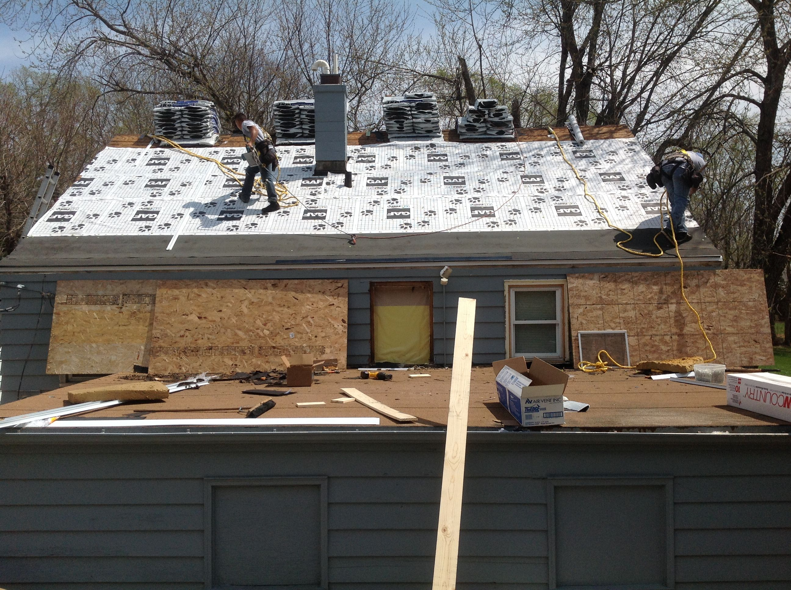 IN PROCESS PHOTO: The workers of Elite Exteriors hard at work on ...