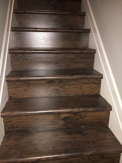 Cap A Tread Saratoga Hickory 47 In Length X 12 1 8 In Deep X 1 | Poplar Stair Treads Home Depot | Newel Cap | 000 0000L | Quarter Turn | Baluster | Rosette