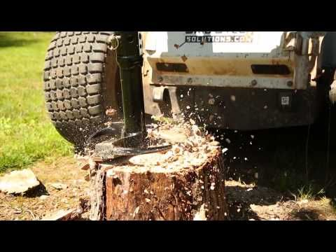 Stump Grinder For Skid Steer And Excavator Augers Youtube