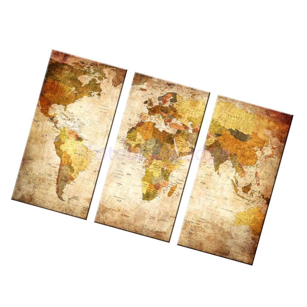 Set Of 3Pcs Unframed Canvas Wall Door Art Painting Picture Poster ...