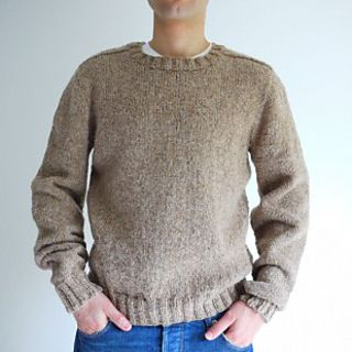 Top down Seamless Men's Saddle Shoulder Sweater | Mens knit