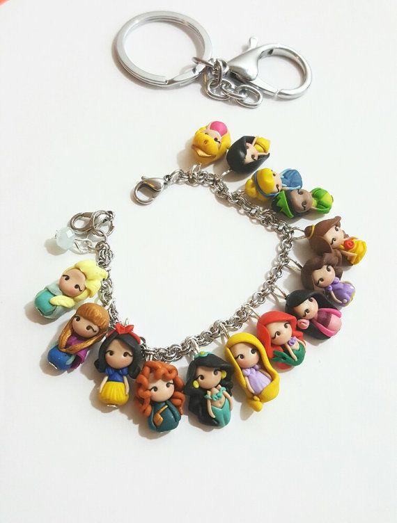 Pocahontas Disney Princess Keyring Bag Charm Gift Tag