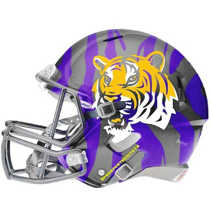 Lsu Tigers Football Helmets Football Helmet Design Cool Football Helmets