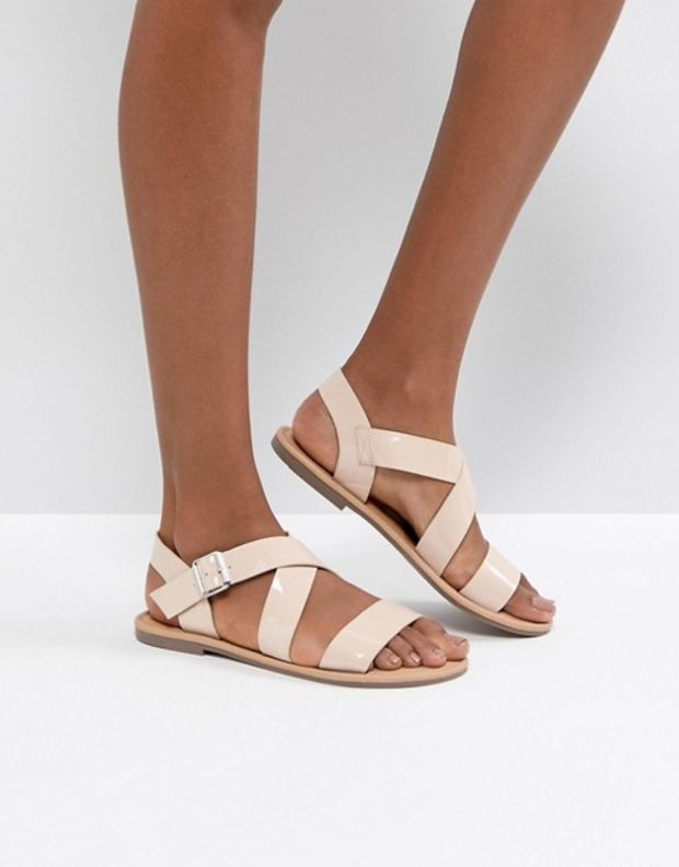 FELIZ Wide Fit Flat Sandals - Coral Asos 1GkWvXIK