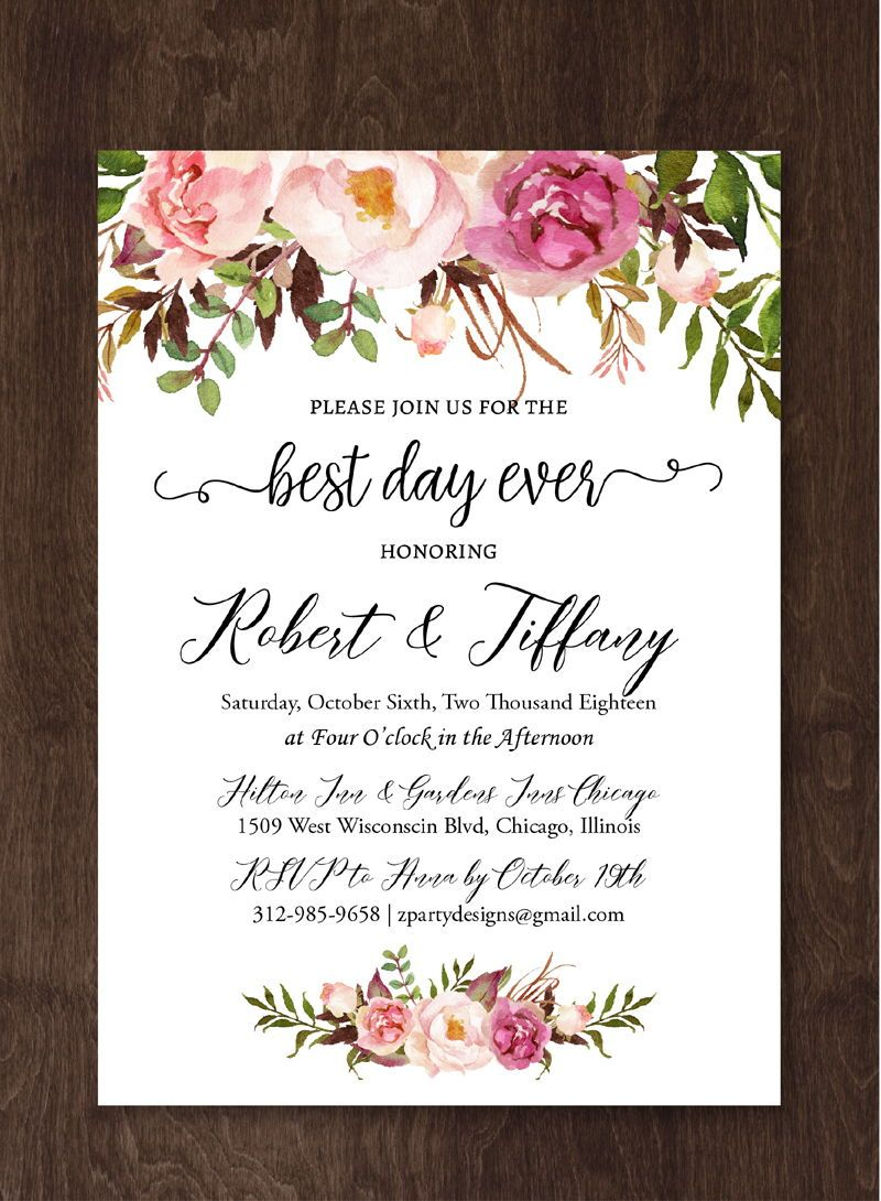 Boho Wedding Invitation, Indian Wedding Invitation Suite Download ...