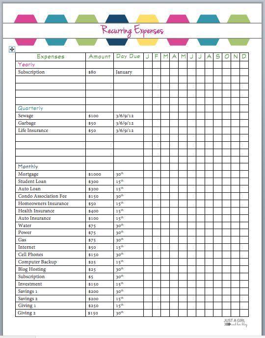 The 2018 Budget Binder Pinterest Binder and Budgeting - home budget spreadsheet