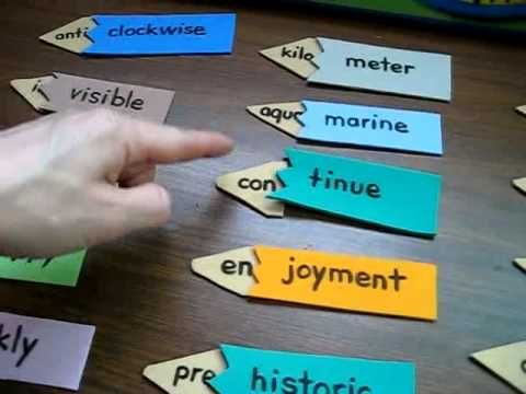 prefix game, using foam, easily adaptable | English/Grammar Ideas ...