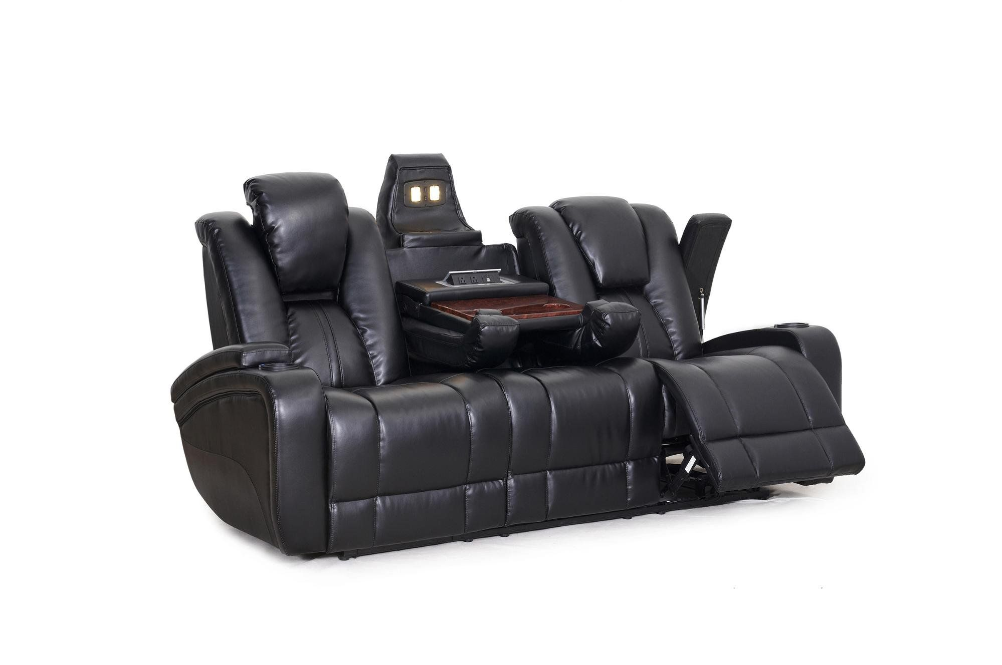 SeatCraft Transformer Reclining Sofa with Power and Drop Down