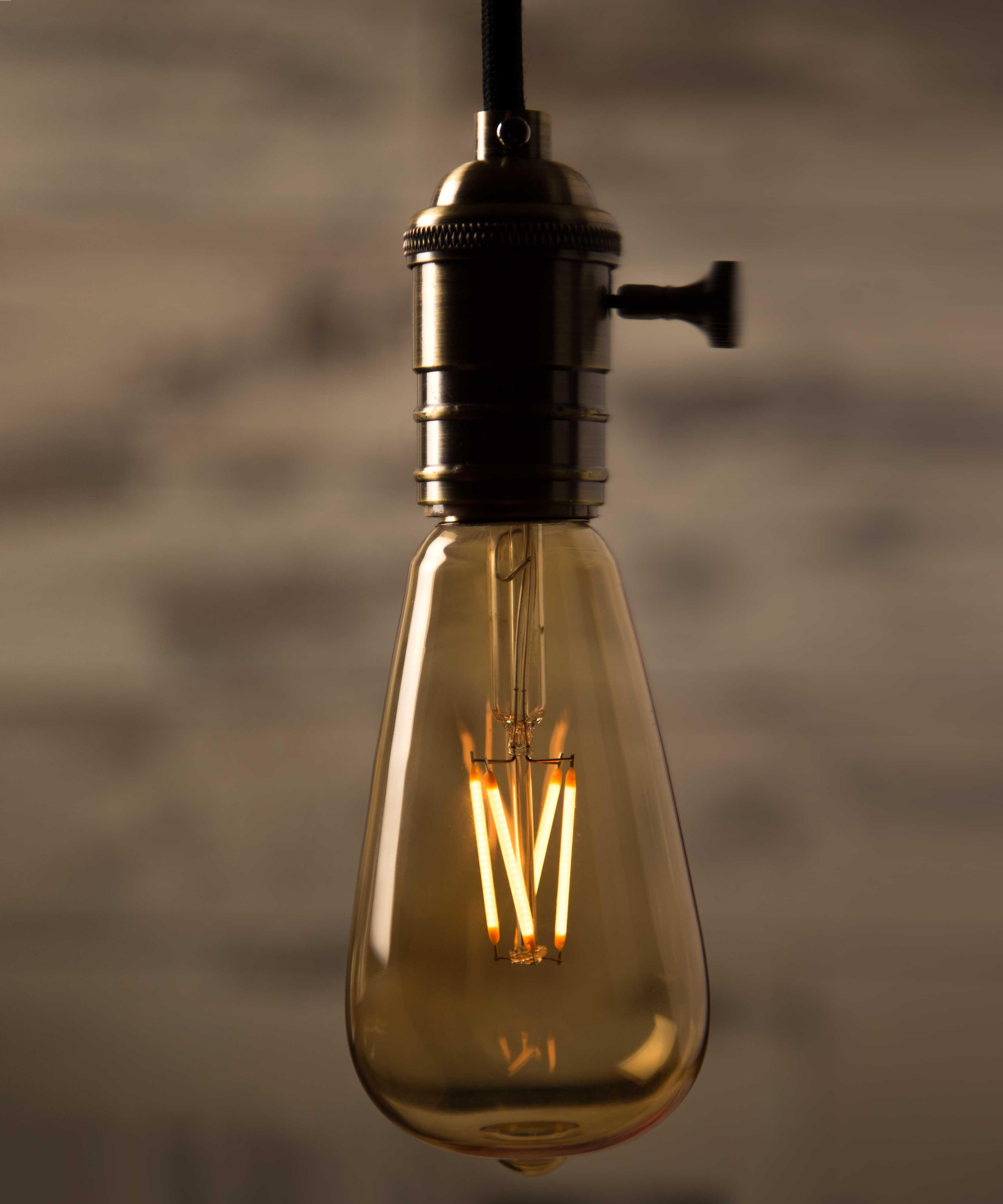 Teardrop st64 william and watson vintage edison bulb industrial light - Vintage Light Bulb Led Large Teardrop Led William Watson