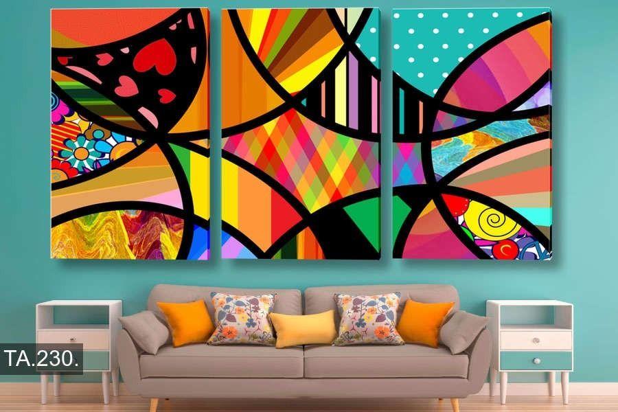 Cuadro Abstracto Decoracion Moderno Triptico 150 80cm Cuadros Modernos Cuadro Abstractos Abstracto