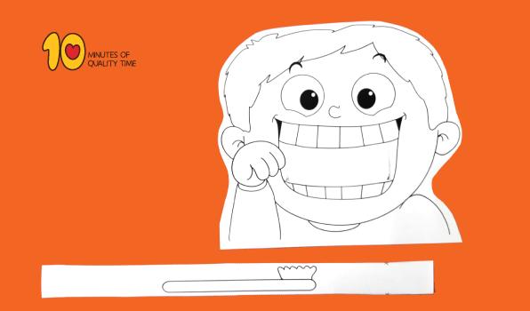 Kind Zähne putzen druckbare Handwerk   – Craft Ideas