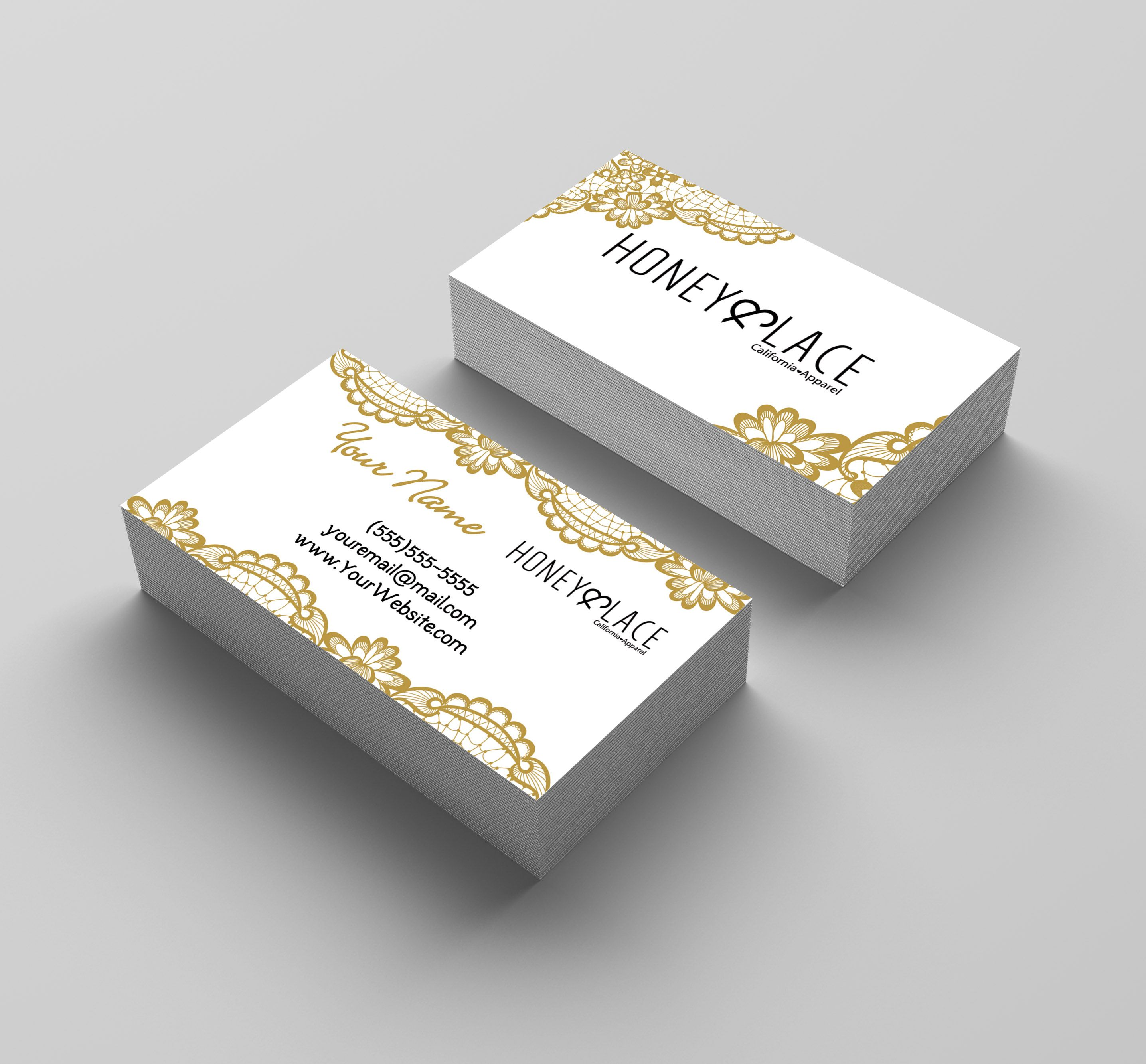 P Phany Business Card 02 Lace Kakaodesigns Lace Print Ticket Card Classic Business Card