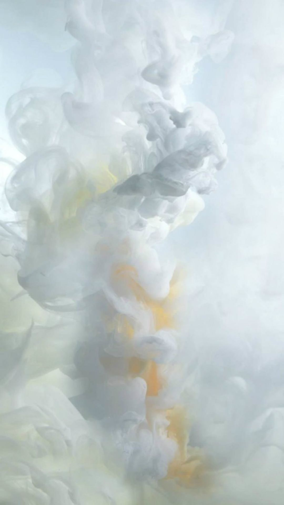 White Ink Smoke IOS9 Wallpaper Art IPhone 6