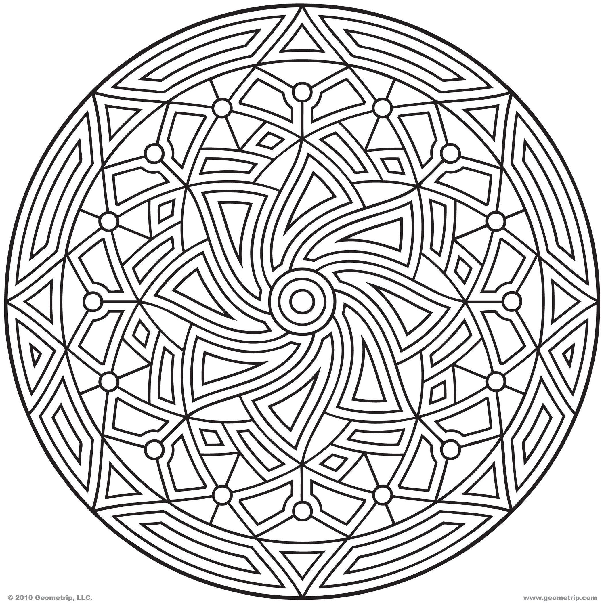 Jewish mandala coloring pages - Images Of Printable Hard Geometric Coloring Pages Geometrip Com Free Geometric Coloring Designs