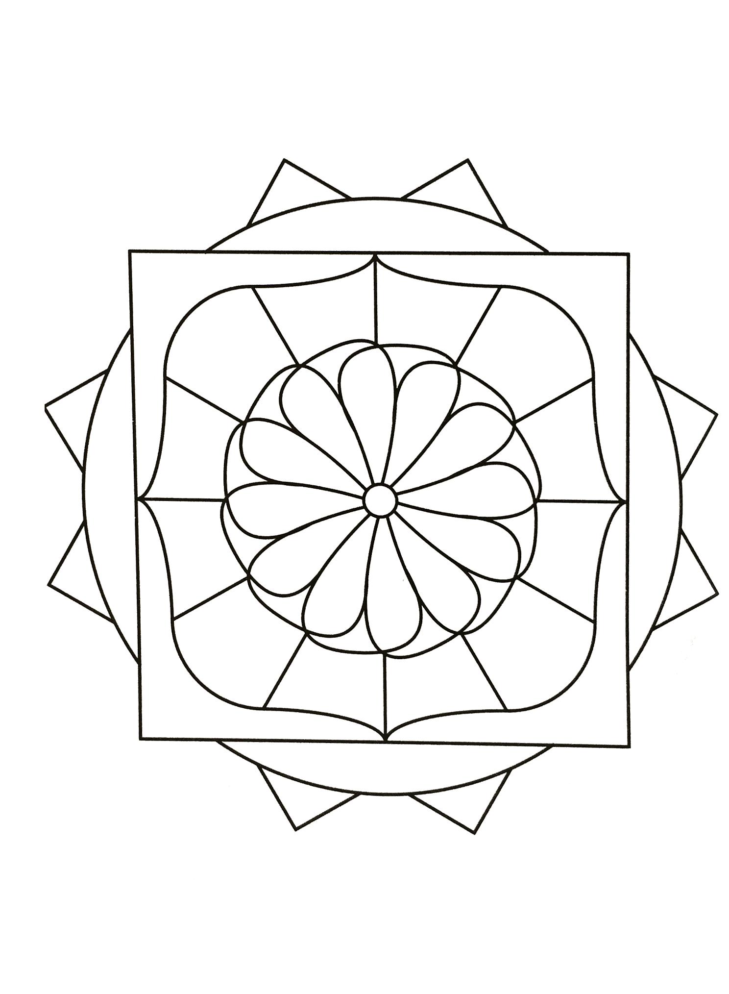 Free mandalas page mandalasgeometrictoprint coloring
