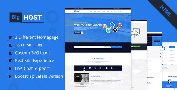 BigHost - Web Hosting Domain Technology HTML Template | Template ...