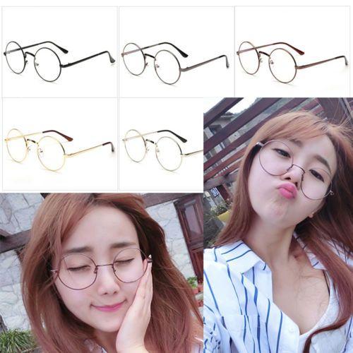 712c0bd0ce Men Women Unisex Metal Frame Large Oversized Clear Lens Round Circle Eye  Glasses